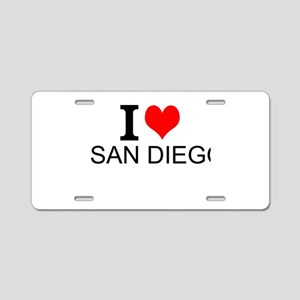 I Love San Diego Aluminum License Plate